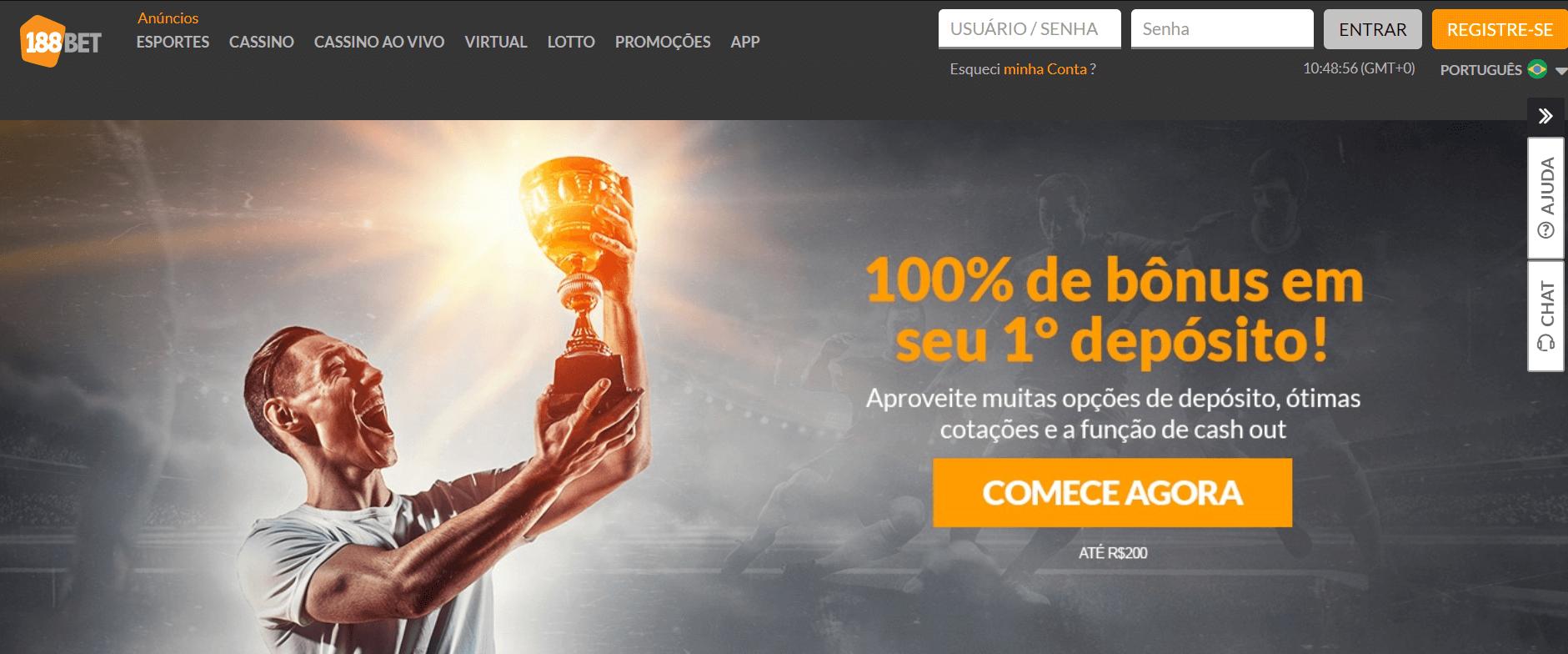 Inscrição 188Bet Brasil